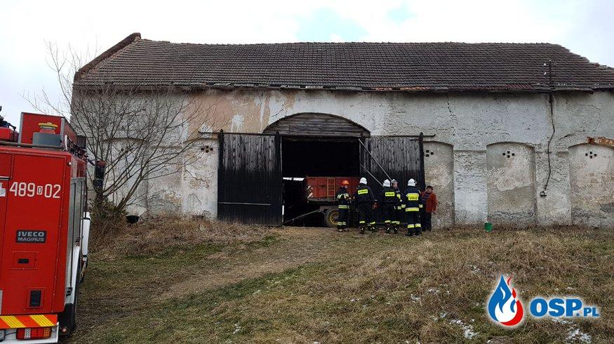 Pożar stodoły w miejscowości Wilków OSP Ochotnicza Straż Pożarna