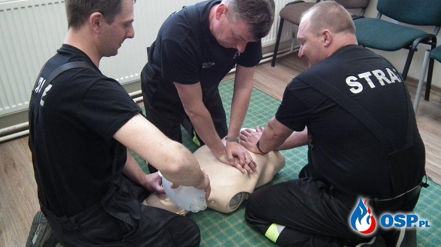 Recertyfikacja kursu Kwalifikowanej Pierwszej Pomocy. OSP Ochotnicza Straż Pożarna