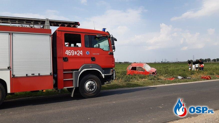 30.08.19 14:29 - WYPADEK DROGOWY, Droga 2553C Janikowo - Węgierce OSP Ochotnicza Straż Pożarna
