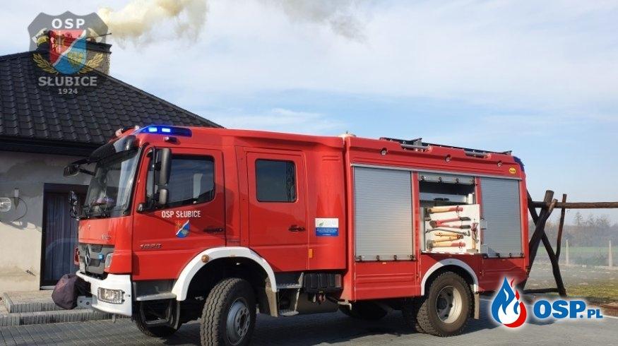 Pożar sadzy w przewodzie kominowym budynku mieszkalnego OSP Ochotnicza Straż Pożarna
