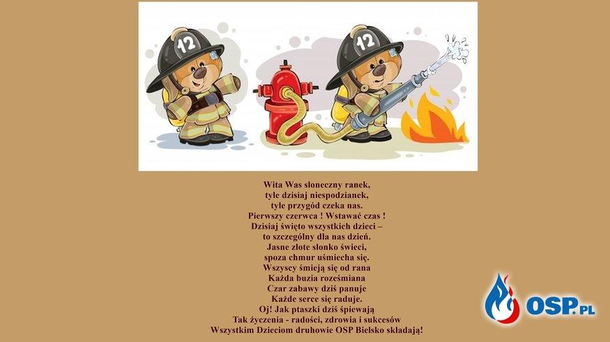 Życzenia z okazji Dnia Dziecka 2020 OSP Ochotnicza Straż Pożarna