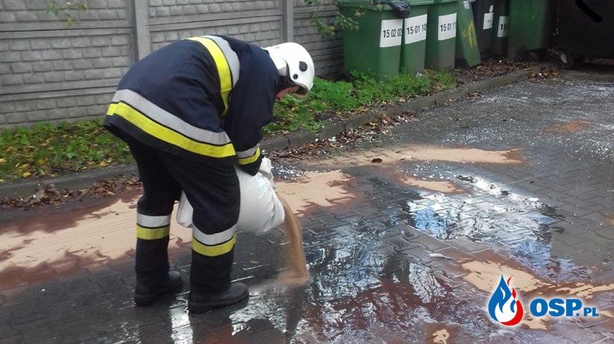 Amica – plama oleju OSP Ochotnicza Straż Pożarna