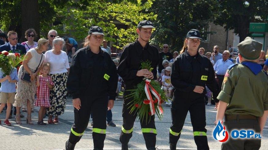 Uroczyste obchody 80 rocznicy wybuchu II wojny światowej w Chodzieży. OSP Ochotnicza Straż Pożarna