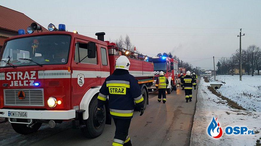 Pożar w kotłowni miejscowość Kłaj OSP Ochotnicza Straż Pożarna