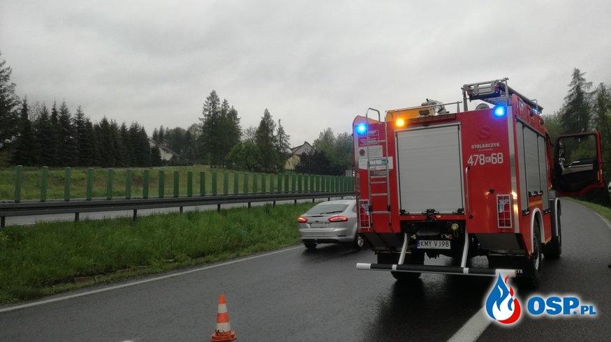 Wyciek paliwa z samochodu ciężarowego - 14 maja 2019r. OSP Ochotnicza Straż Pożarna