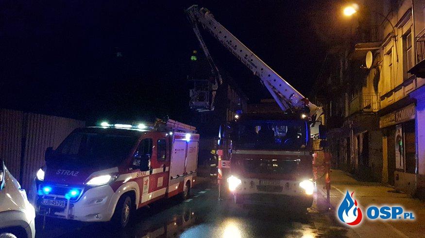 Usuwanie skutków silnego witaru OSP Ochotnicza Straż Pożarna