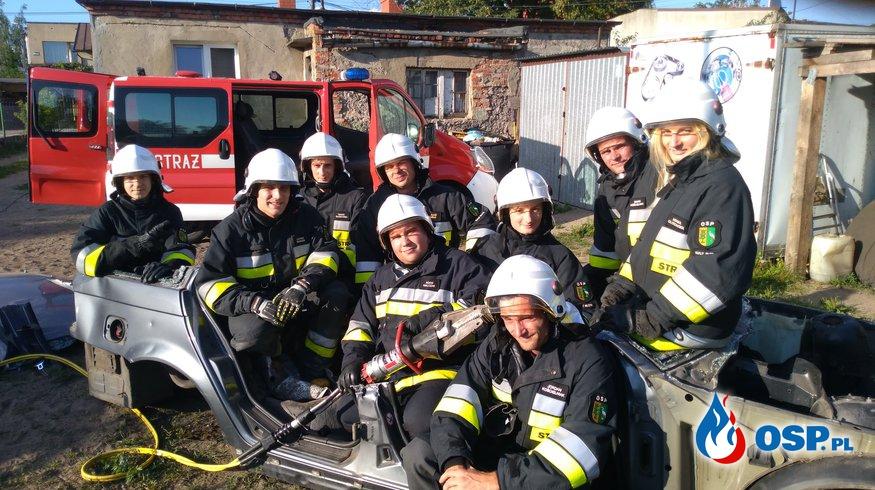 Ćwiczenia na nowym sprzęcie OSP Ochotnicza Straż Pożarna