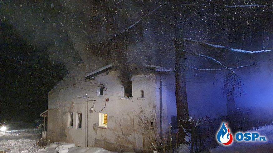 Pożar budynku mieszkalnego w Jugowie OSP Ochotnicza Straż Pożarna