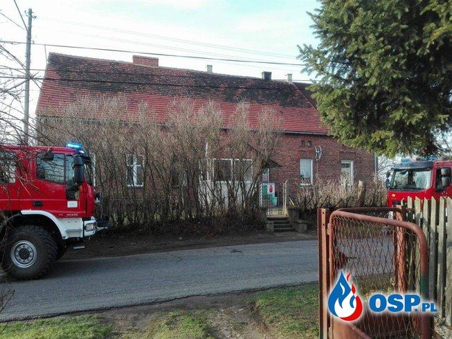 Zadymienie w budynku - Dobiercice OSP Ochotnicza Straż Pożarna