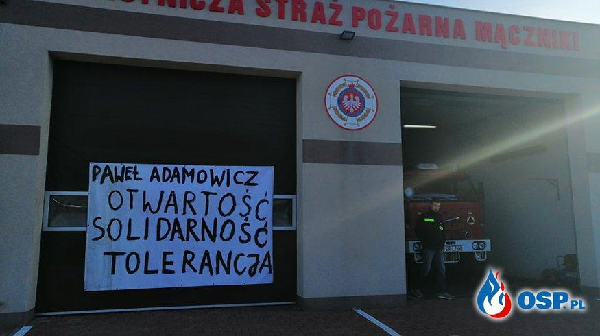 W hołdzie Prezydentowi Gdańska OSP Ochotnicza Straż Pożarna