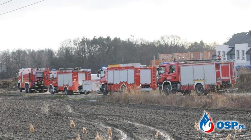 Robotnicy uszkodzili gazociąg w Opolu. Ewakuowano pracowników. OSP Ochotnicza Straż Pożarna