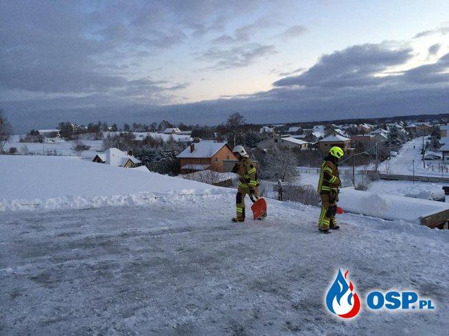 WYPADEK W POGORZAŁKACH I ODŚNIEŻANIE SALI GIMNASTYCZNEJ W DOBRZYNIEWIE DUŻYM (02/2019) OSP Ochotnicza Straż Pożarna