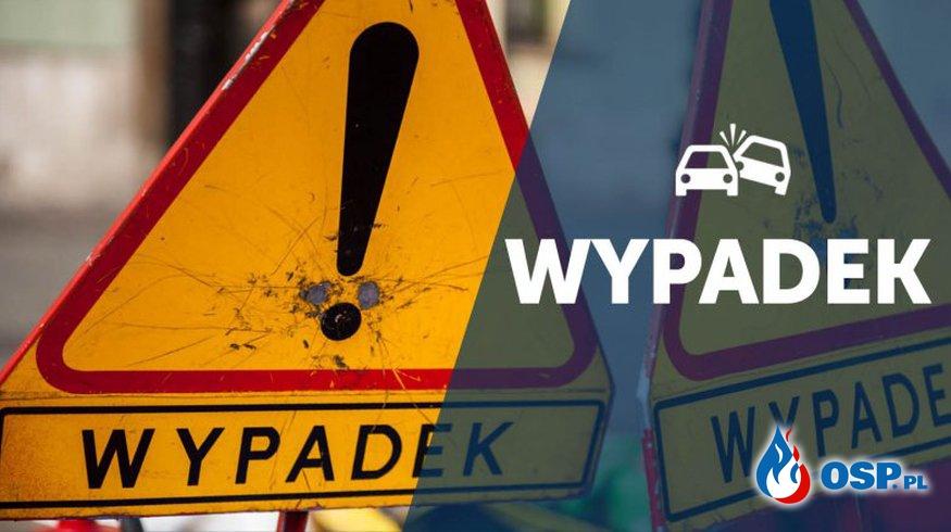 Tragiczny wypadek motorowerzysty z TIR-em! OSP Ochotnicza Straż Pożarna