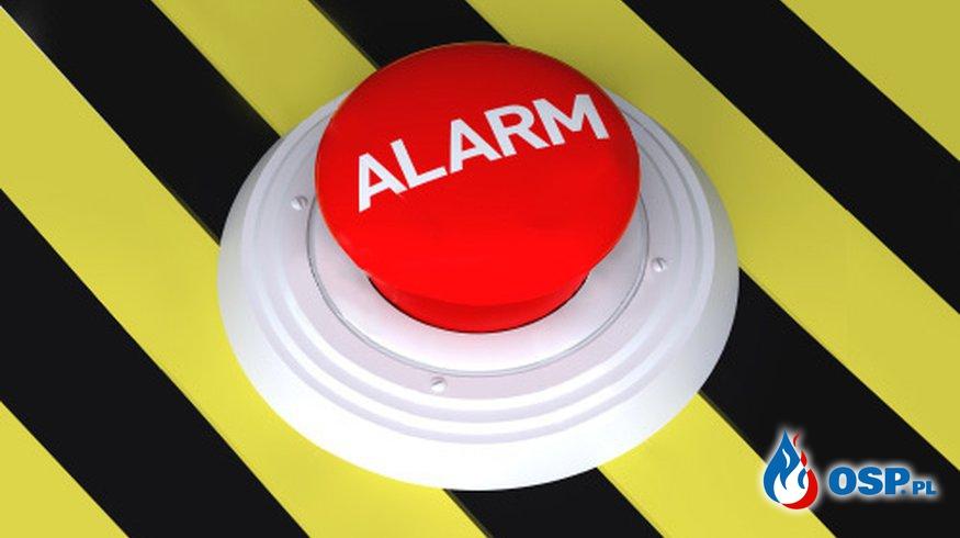 Fałszywy alarm - powalone drzewo OSP Ochotnicza Straż Pożarna