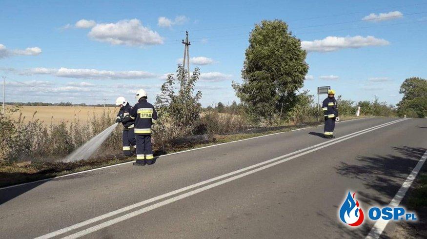 Pożary trawy w Klępiczu OSP Ochotnicza Straż Pożarna