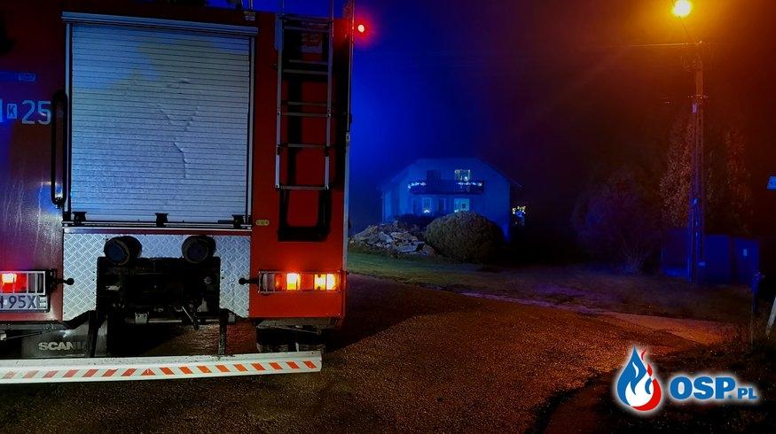 Pożar domu jednorodzinnego - ul. Widokowa w Zagórzu OSP Ochotnicza Straż Pożarna