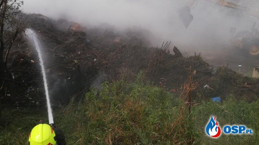 Pożar sterty pozostałości roślinnych Głubczycach OSP Ochotnicza Straż Pożarna