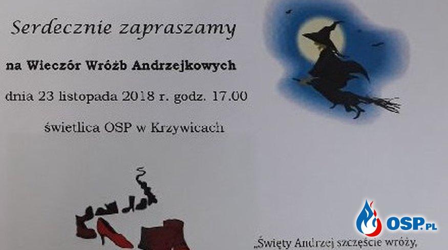 Andrzejki w OSP Krzywice OSP Ochotnicza Straż Pożarna